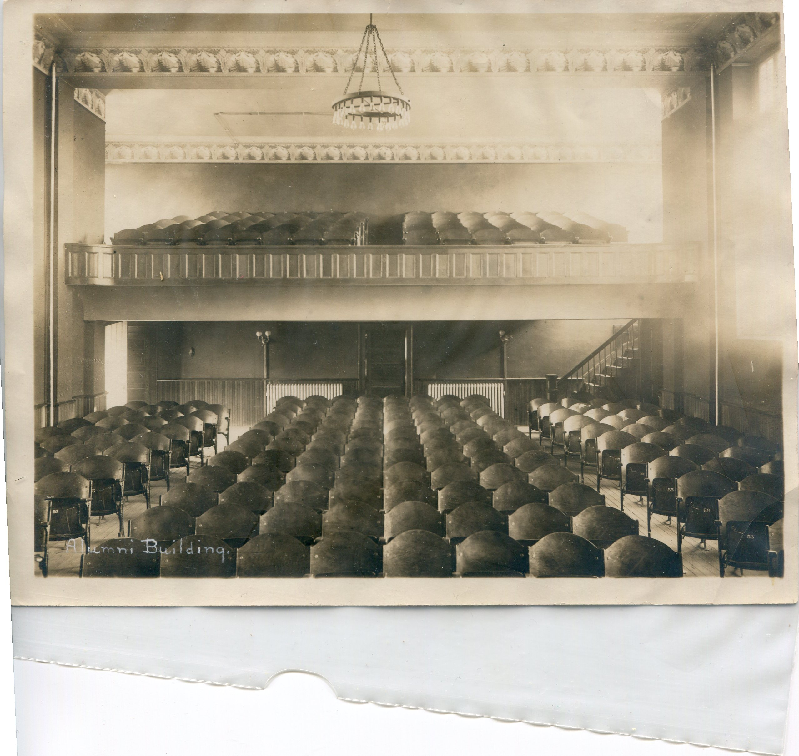 The Alumni Hall auditorium