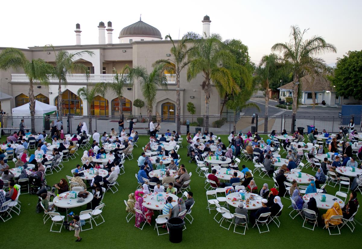 The Islamic Society of Orange County was founded in 1976. Some of its members are seen breaking fast during the holy month of Ramadan in this photo from 2015.