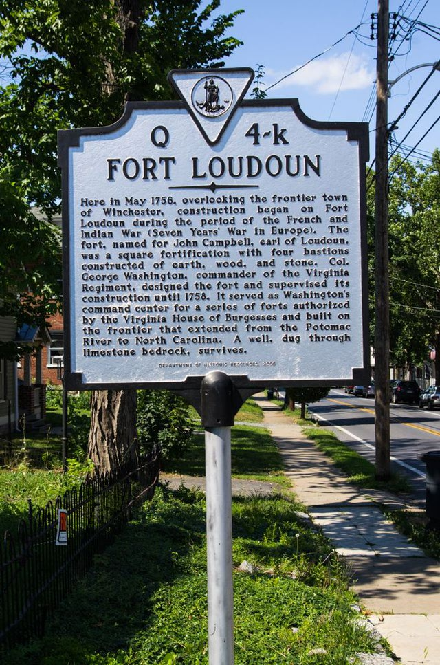 Fort Loudoun Historical Plaque
