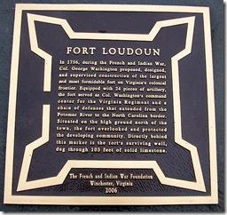 Fort Loudoun roadside plaque