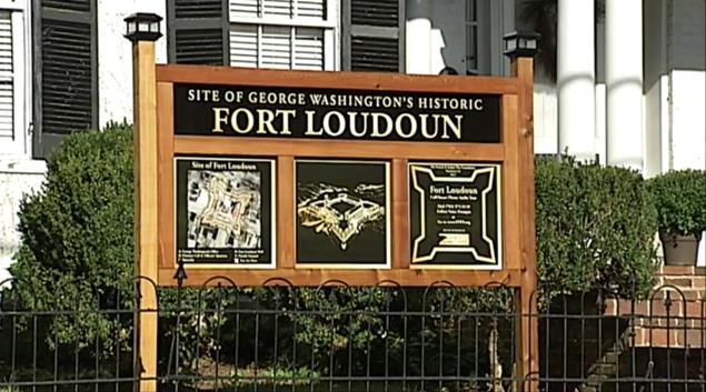 Close-up of the Fort Loudoun sign