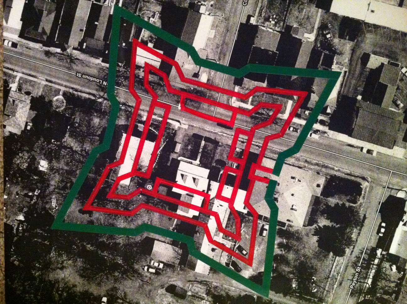 Fort Outline, courtesy of the French and Indian War Foundation