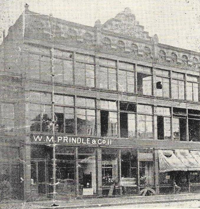 The original appearance of the Prindle-McCrory Building.