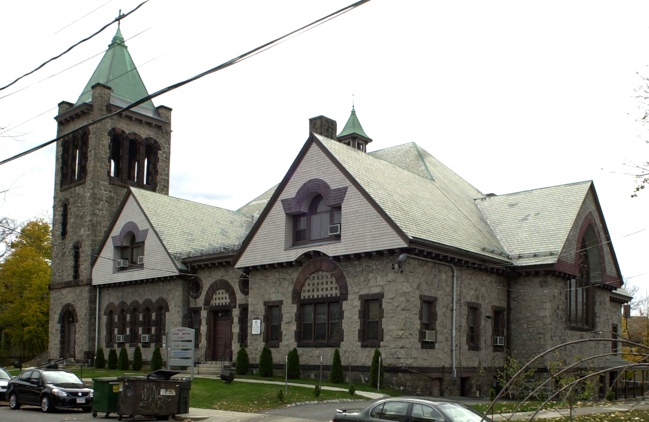 The Palestine Cultural Center for Peace, formerly the Allston Congregational Church, was founded in 2007.