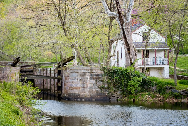 Guests can step out of the front door of Lockhouse 6 onto the towpath in the C&O Canal National Historical Park, view the historic lock and enjoy the many recreational, historical, and natural resources that the Park has to offer.