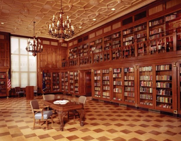 The Indiana Authors Room within the library is a perfect setting to learn about the state's history.