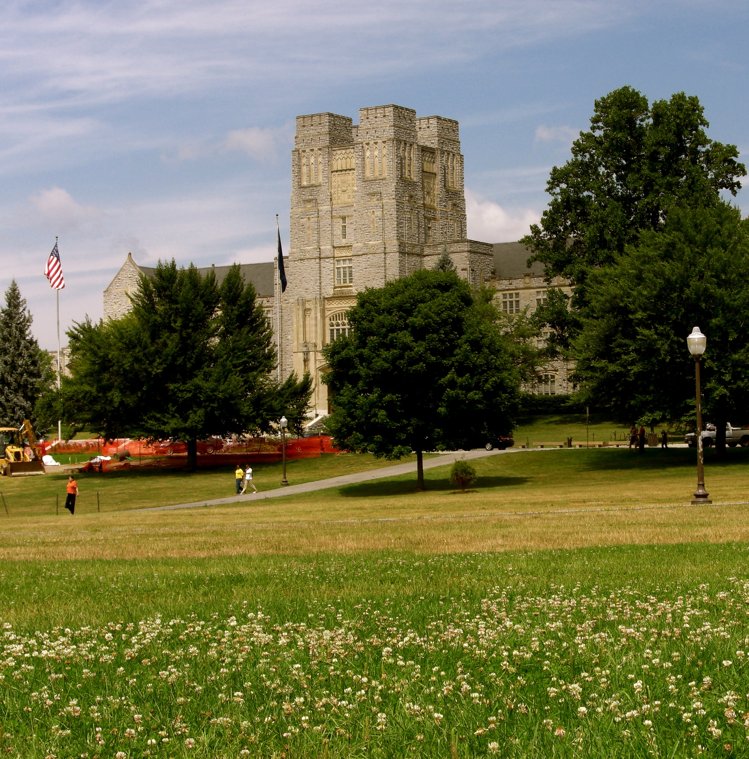 View of Burruss from the Drillfield; image by EpicV27 - Own work, GFDL, https://commons.wikimedia.org/w/index.php?curid=3497173