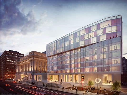 Old City Hall's future...an artist's rendition of the planned 21c Museum Hotel addition.