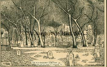 A postcard drawn in pen of the Cemetery in the 1940s.  If interested you can purchase a copy from the link below