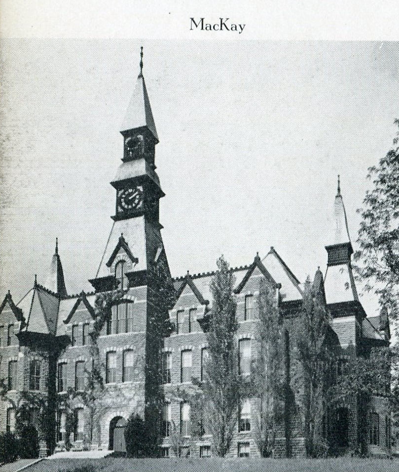 The exterior of Mackay Hall