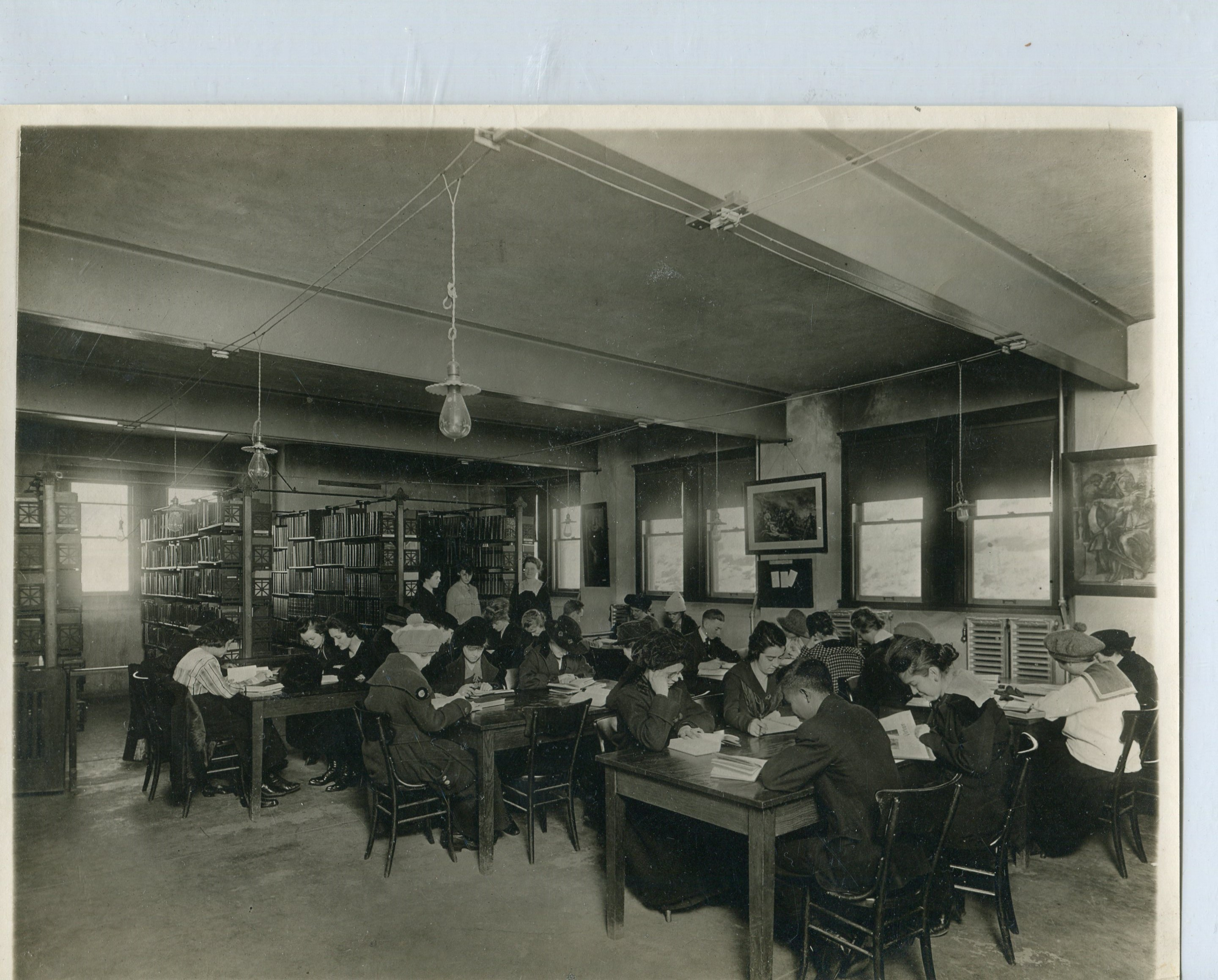 One of the library's reading rooms