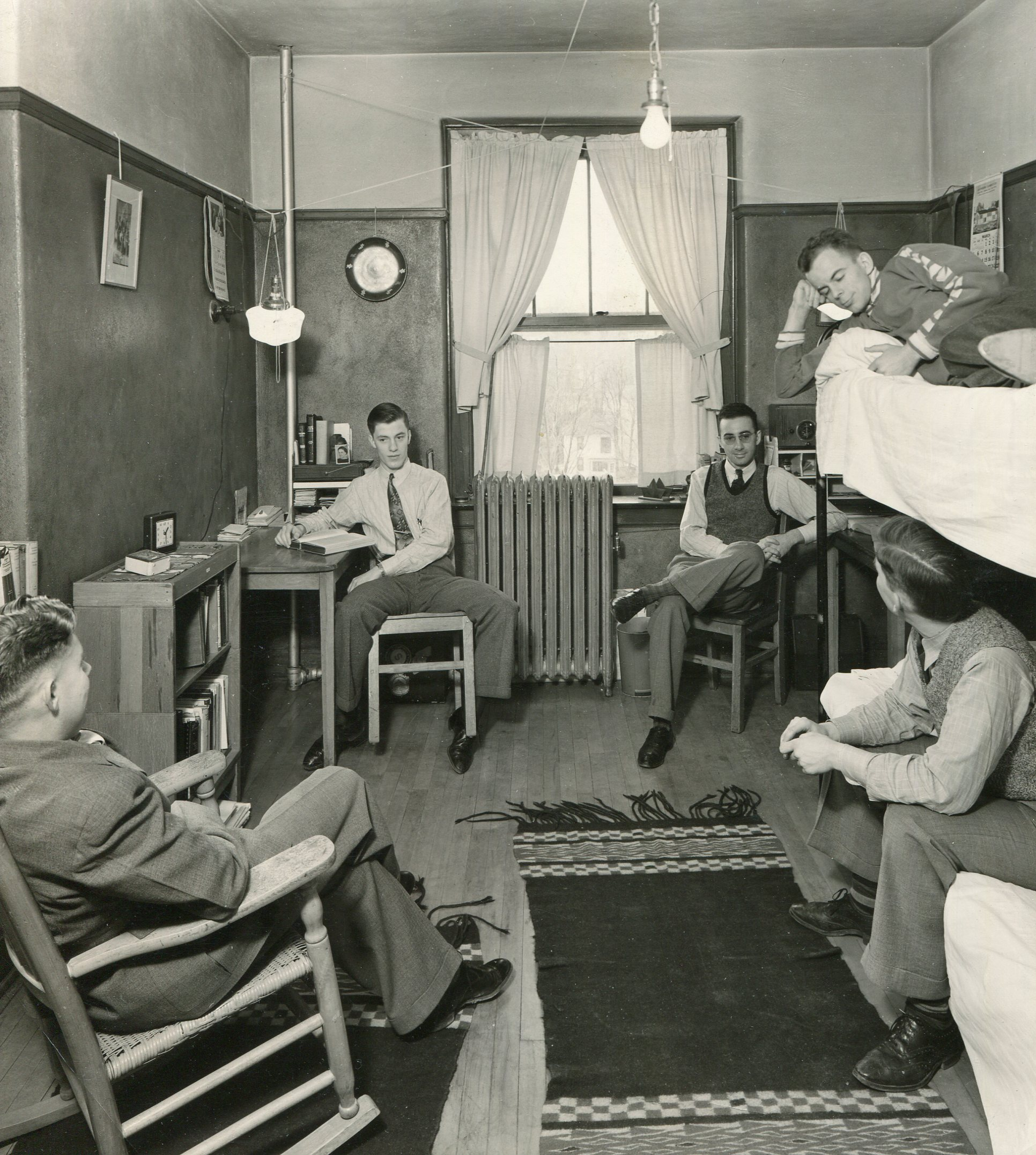 A dorm room for the new Copley-Thaw Hall