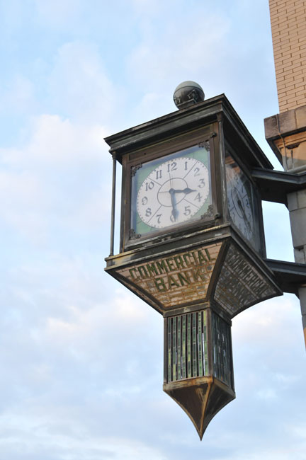 Clock on Exterior