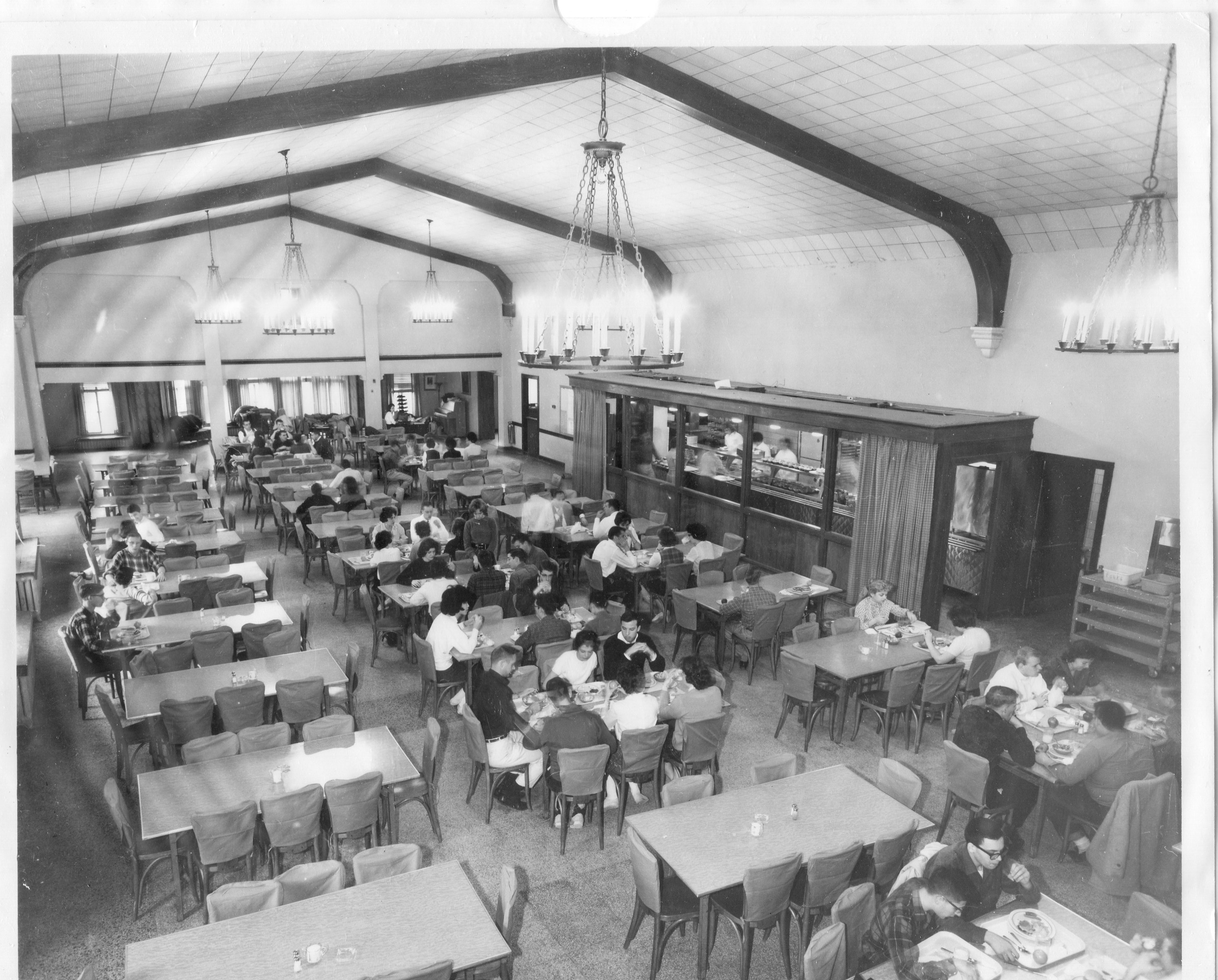 The dining area after it was converted into a cafeteria