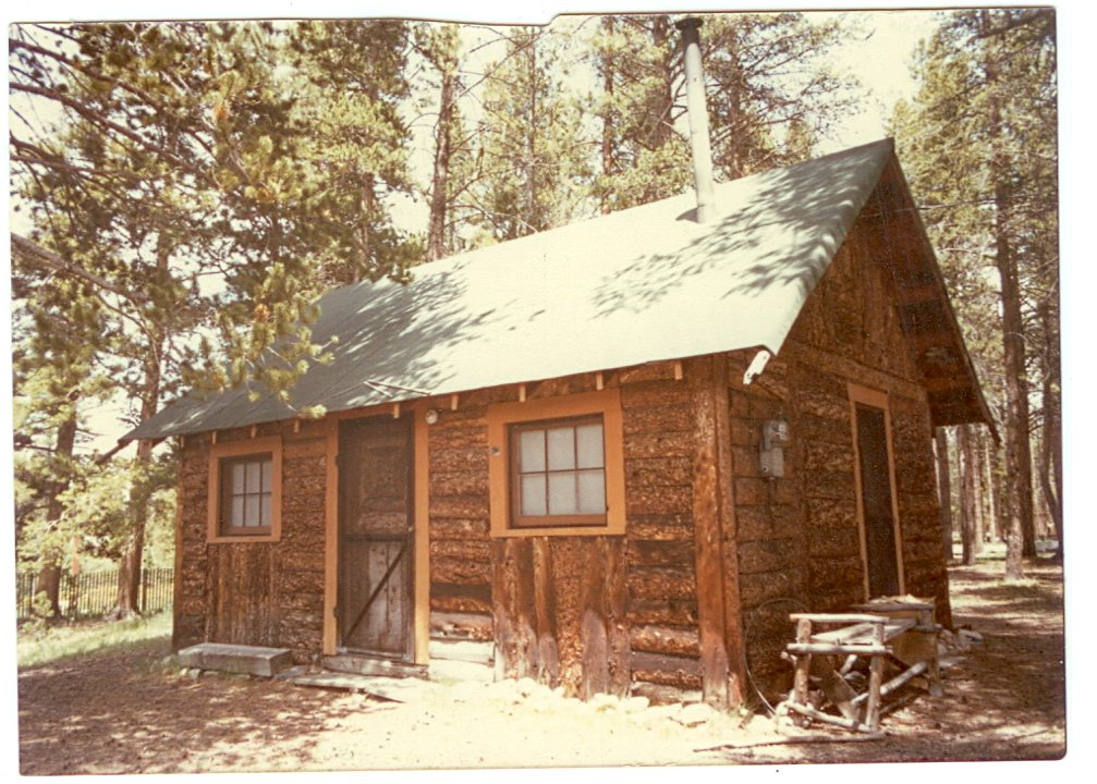 Niemoth Cabin in its original location in the Bill's Ranch subdivision.