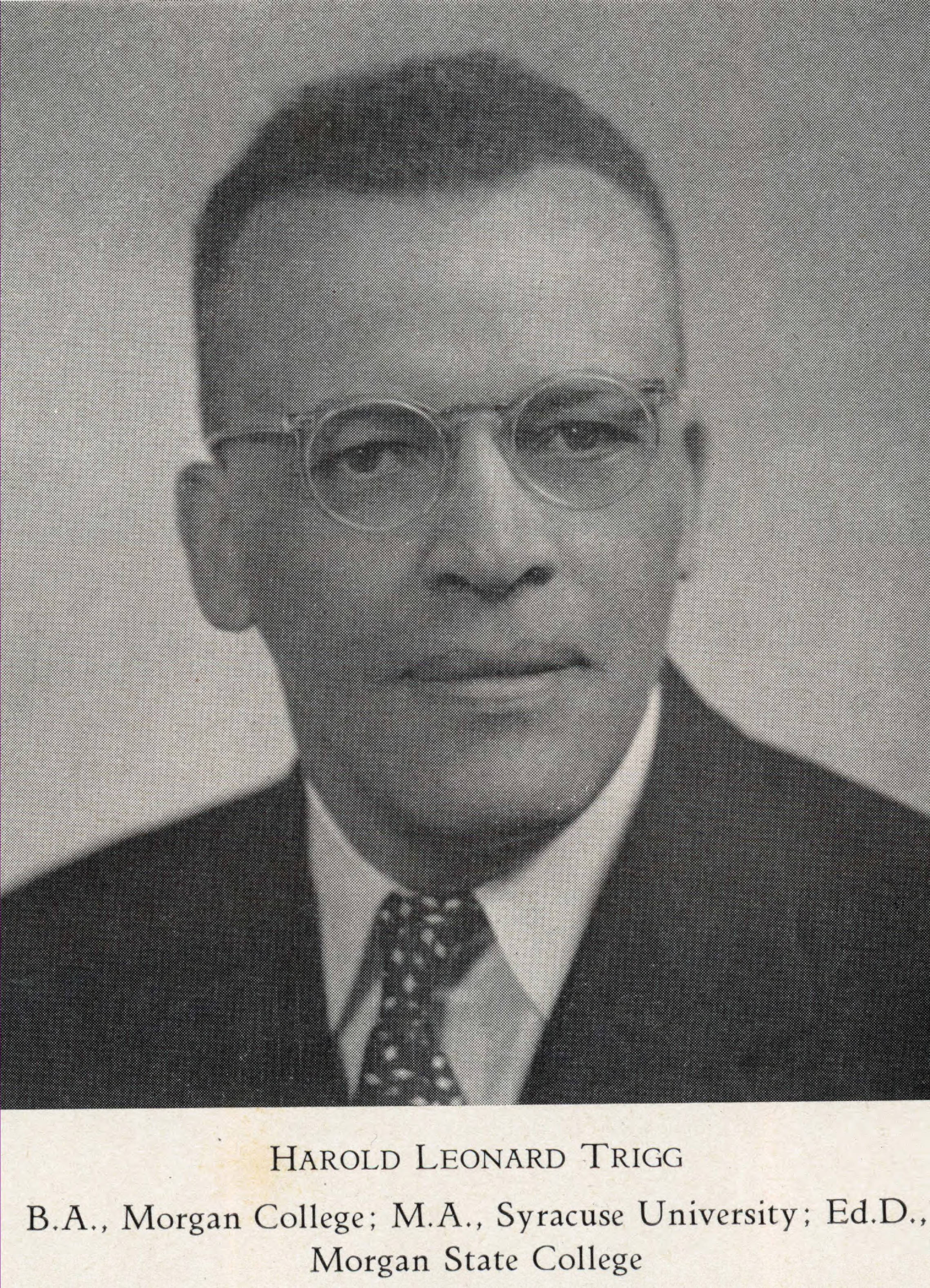 Harold Leonard Trigg, credit: ECSU Archives