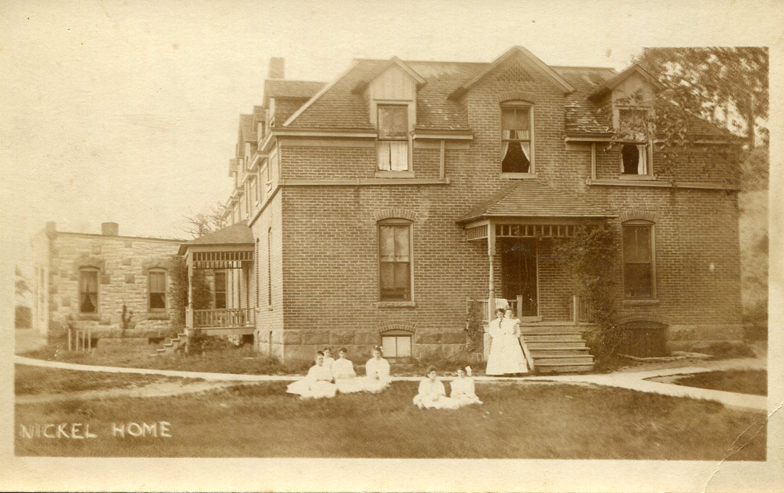 Nickel Hall circa 1900. The building was a women's dorm and laundry building for campus till 1946.