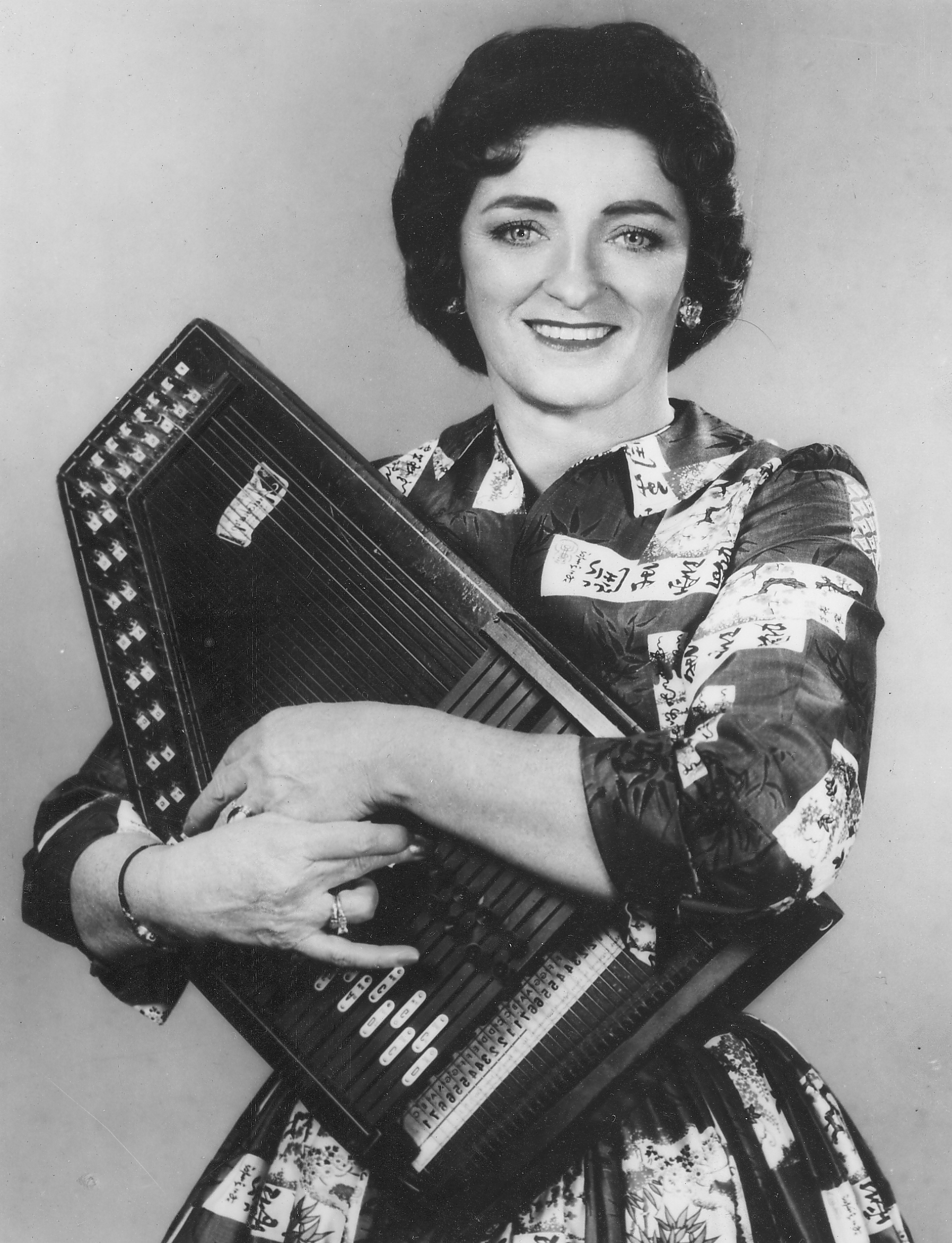 Photograph of Maybelle Carter, courtesy of Bryant Label.