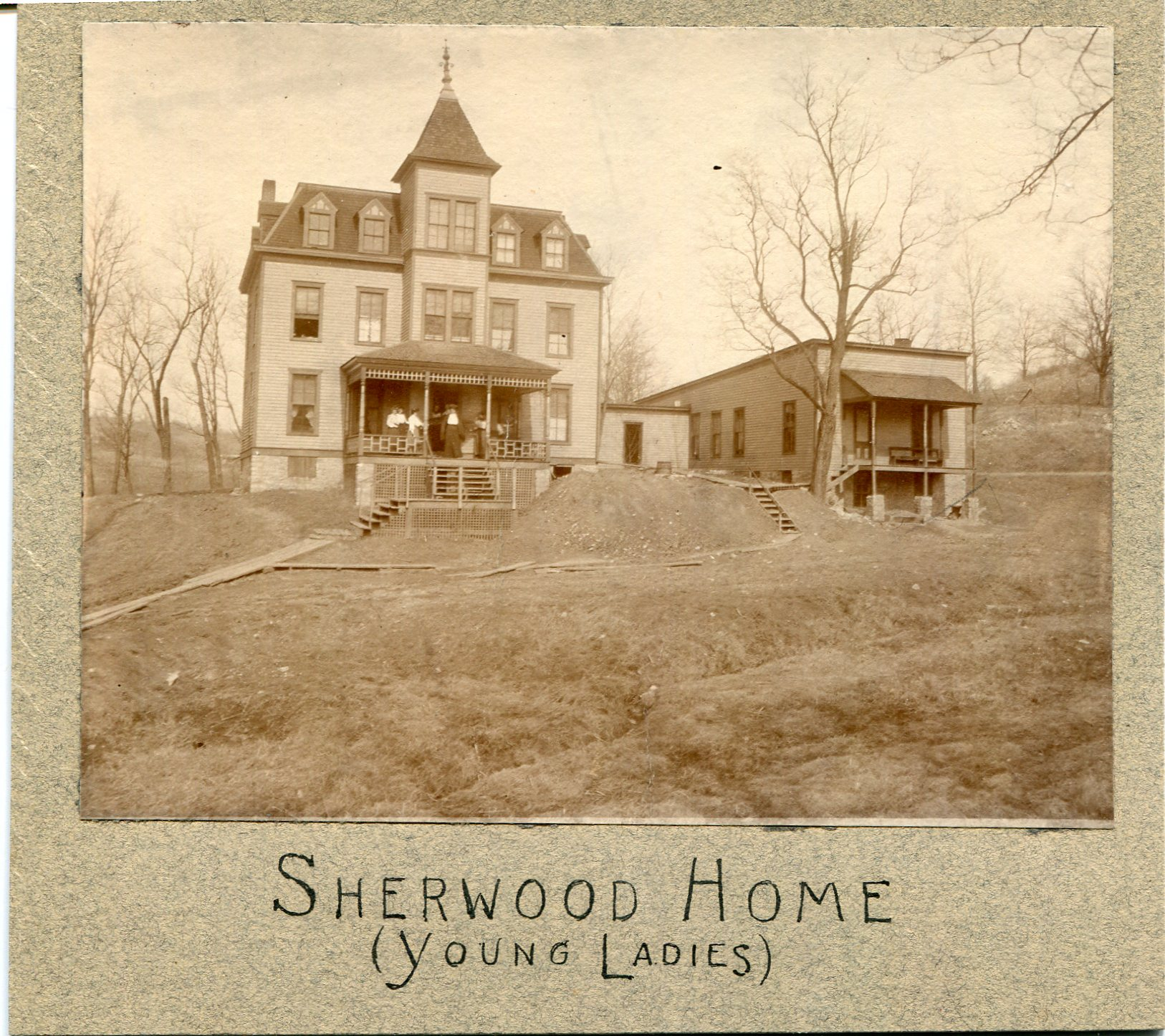 A photo taken of the front of Sherwood House.