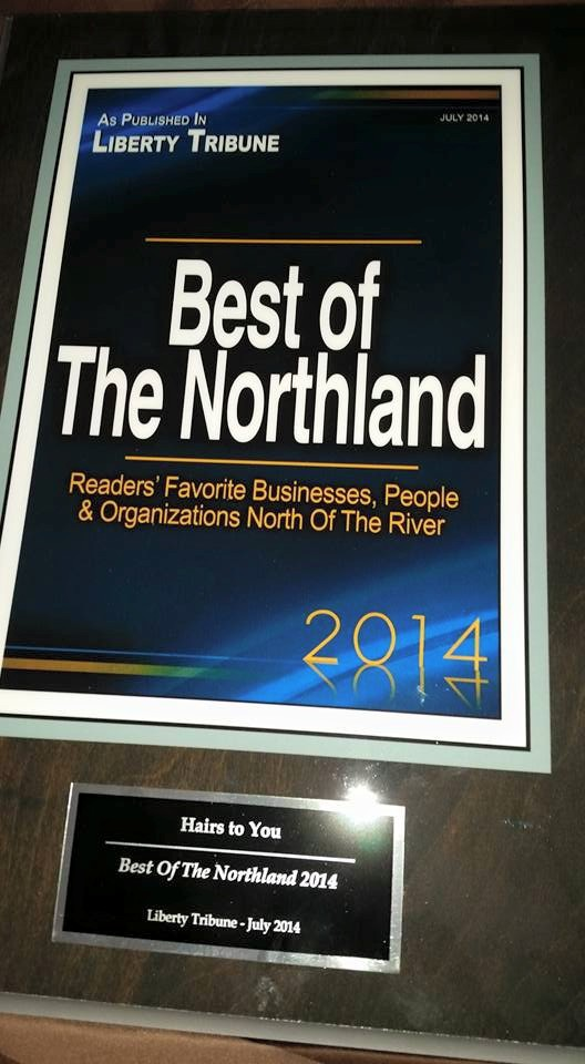 "Photograph of the ""Best of the Northland"" awarded by the Liberty Tribune in 2014."