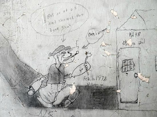 Prisoner drawing inside Old Brunswick County Jail