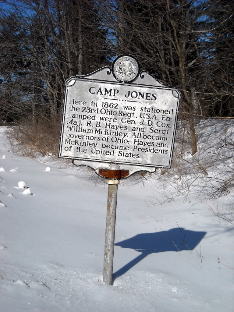 Landmark for Camp Jones located on Rt. 19 on Flat Top Mountain,Wv.