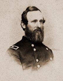 President Rutherford B. Hayes, shown here as a Union officer, during which time he and his troops camped at Camp Jones.