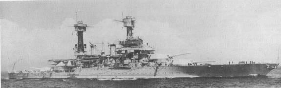 USS West Virginia (BB-48), circa 1935.
