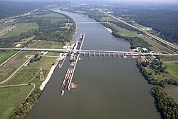 Jesse Stuart Memorial Bridge (Aerial View)