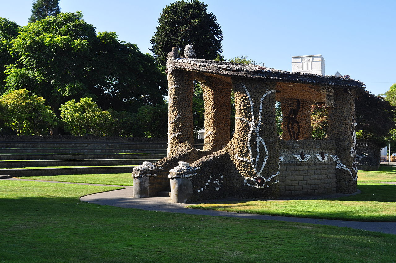 Causland Park is historically significant for its unique architecture featuring decorative stonework.