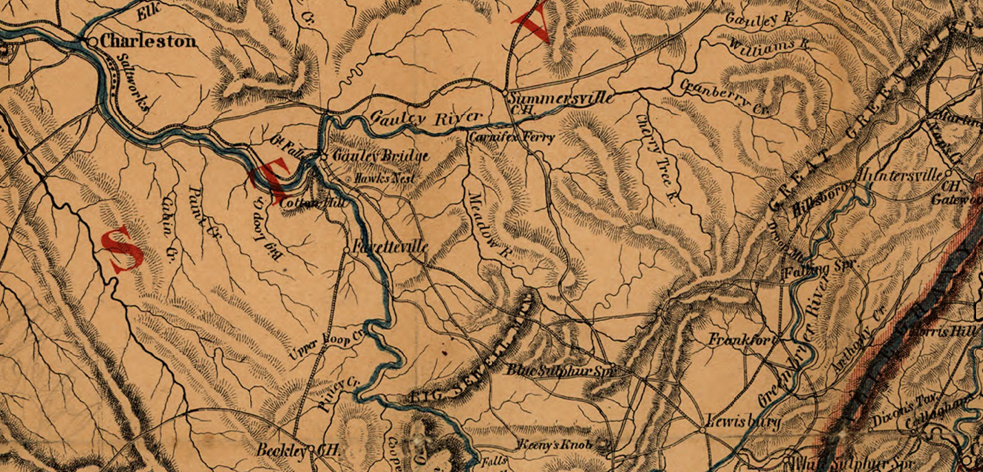Civil War map of the area of operations.