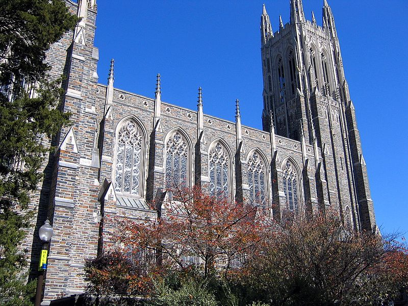 Duke University Chapel is the university's most prominent and well-known landmark.