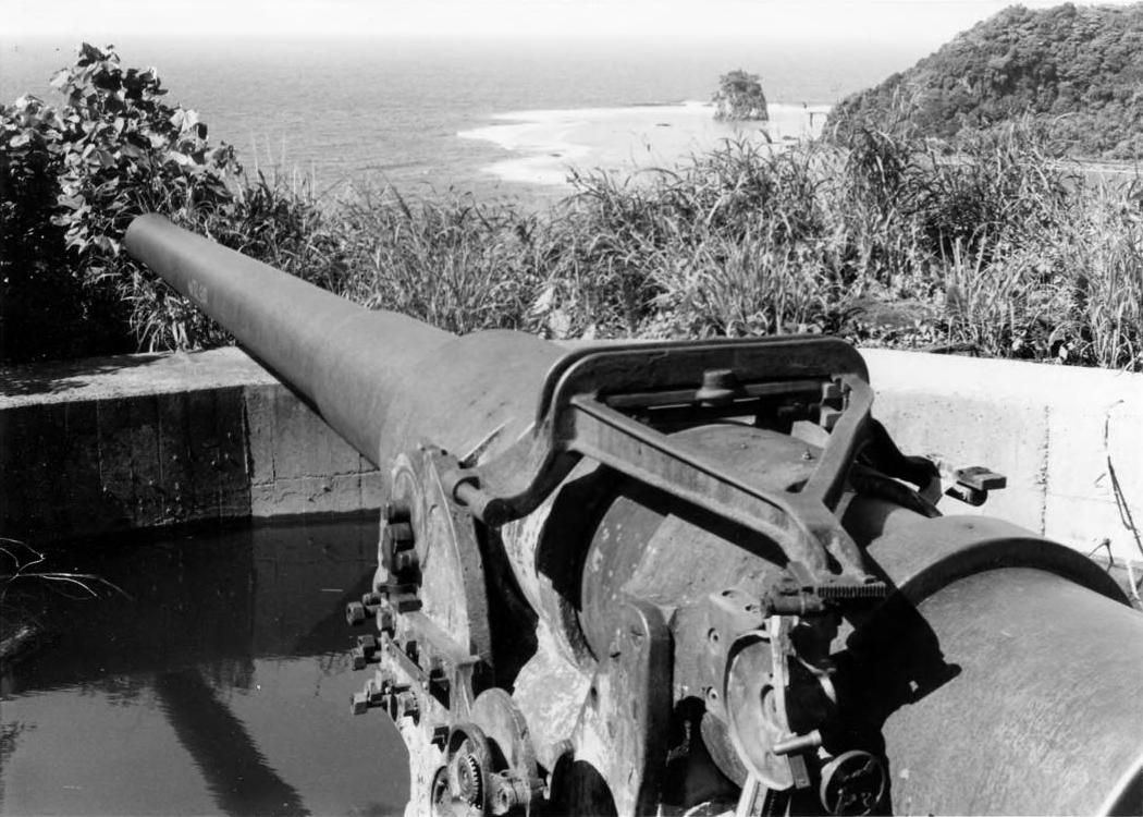One of the 50 Caliber Machine guns used to fortify the Island of American Samoa