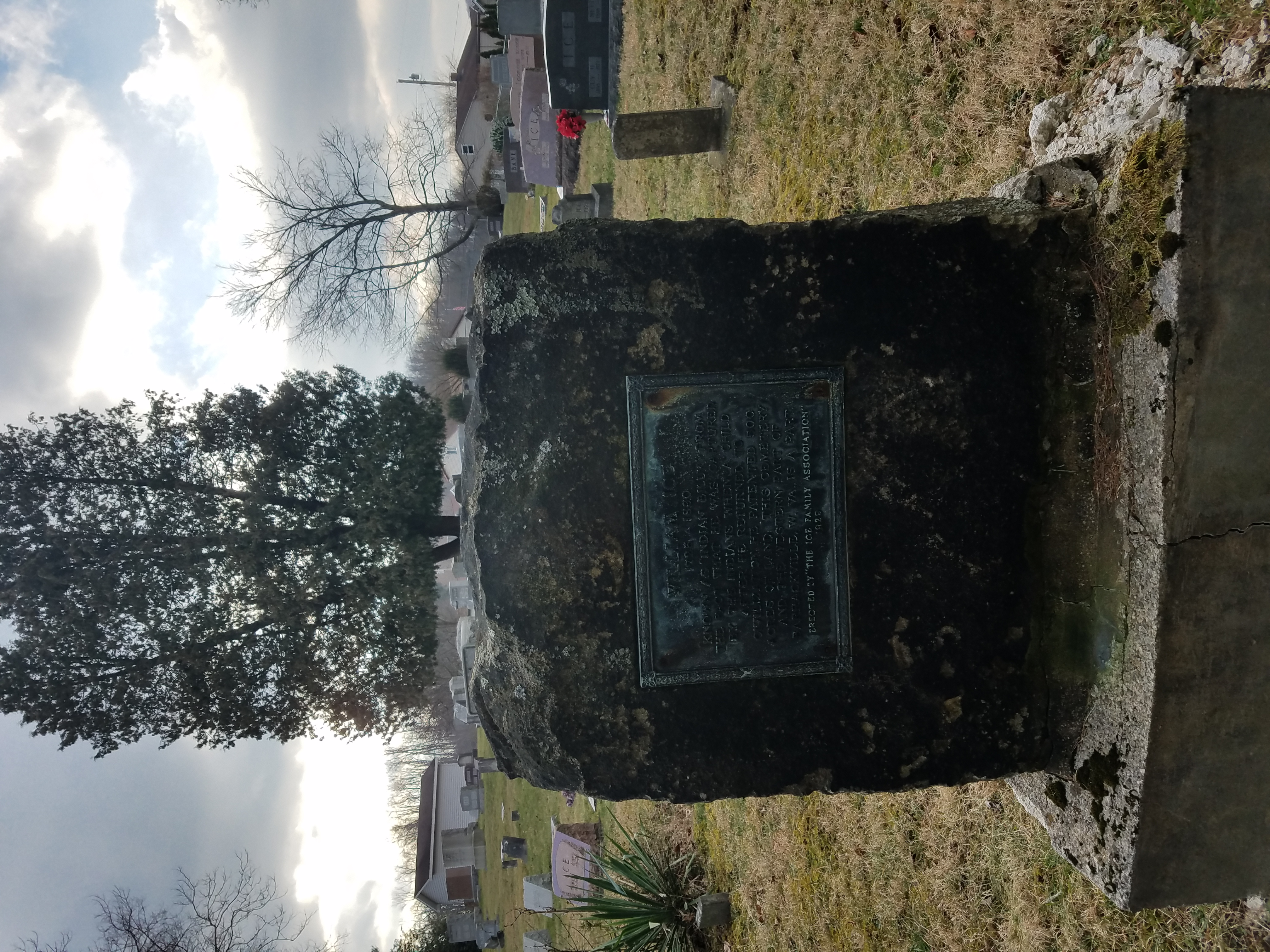 Monument within graveyard