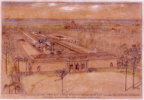 Concept art of John and Mable Ringling Museum of Art by architect John H. Phillips.