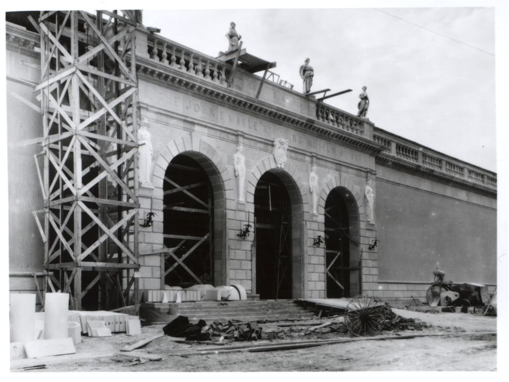 Construction of the museum