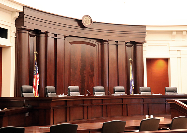 Michigan Supreme Court courtroom