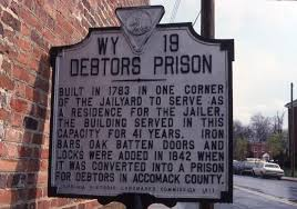 Debtors' Prison Historical Plaque