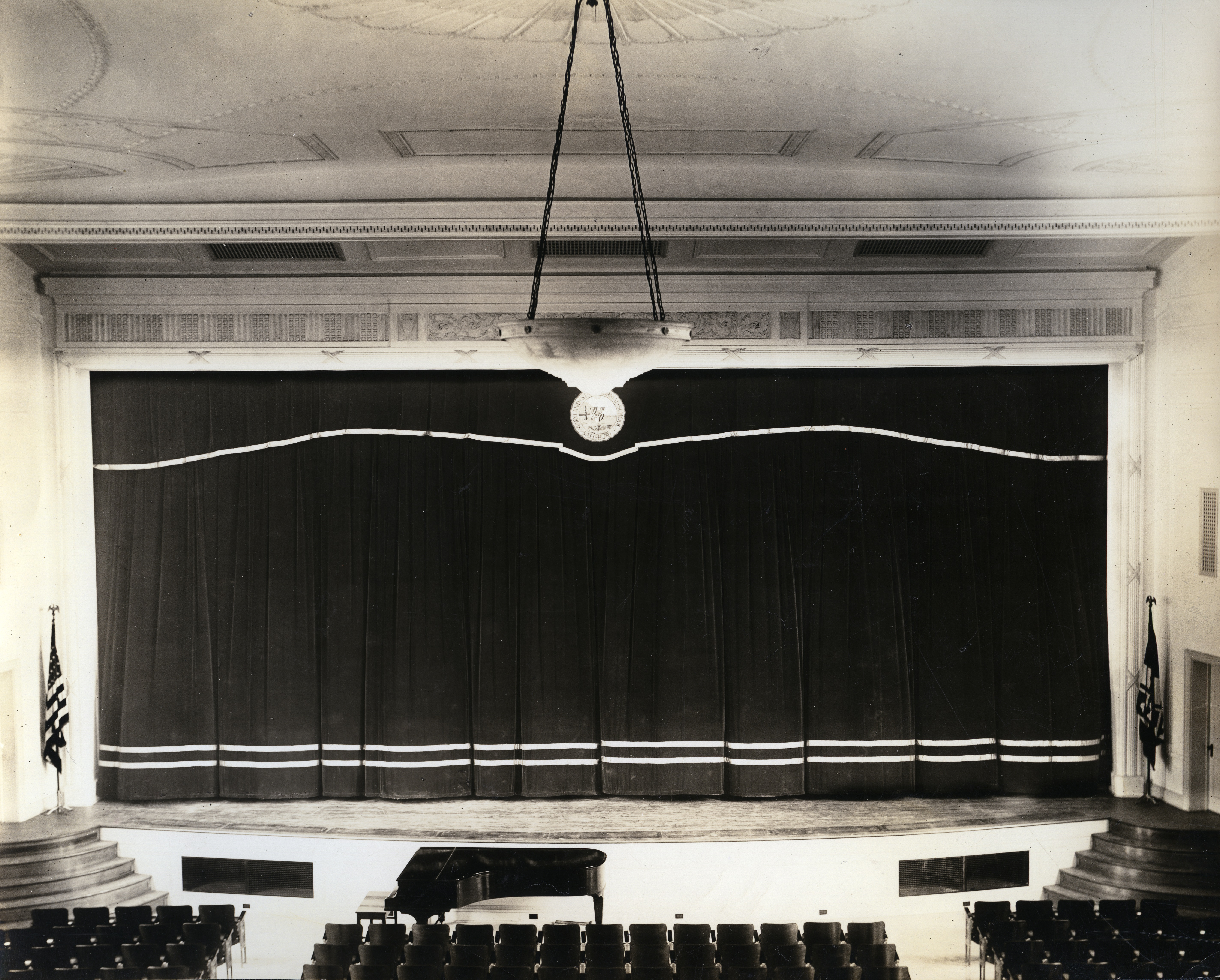 Auditorium in Holloway Hall, 1920s