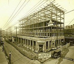 The Erie Terminal Building during construction