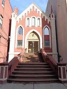 The former Hoboken synagogue, built in 1883.