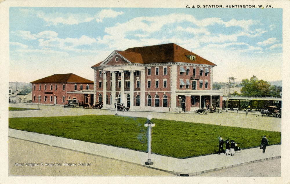Postcard of the second depot