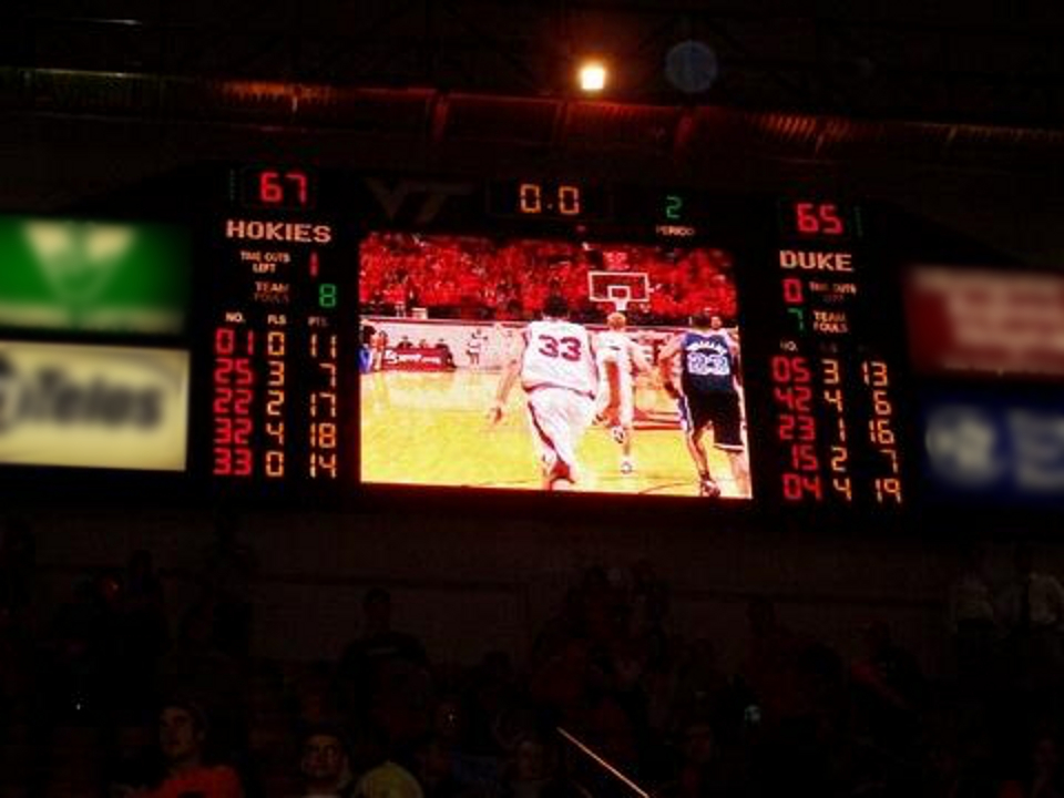 (Feb 17, 2005) Scoreboard of the VT - Duke Upset; image by Jwalte04 at en.wikipedia - Own work, Public Domain, https://commons.wikimedia.org/w/index.php?curid=17666449