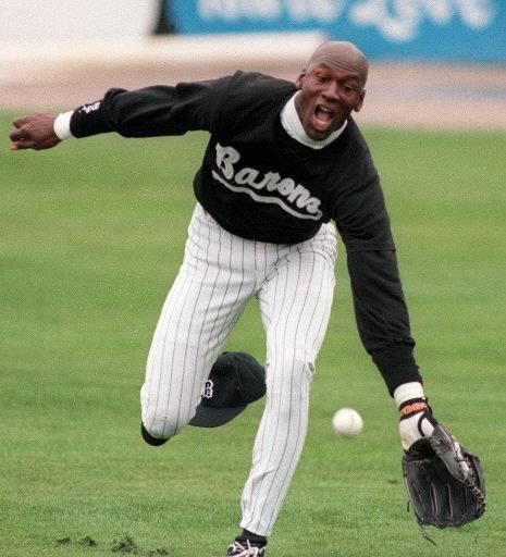 Jordan as he hustles to grab the ball during.