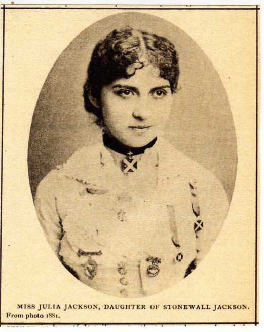 Julia Laura Jackson in 1881, the only surviving child of Stonewall and Mary Anna Jackson.