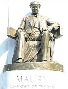 Statue of Maury on the Monument Avenue monument