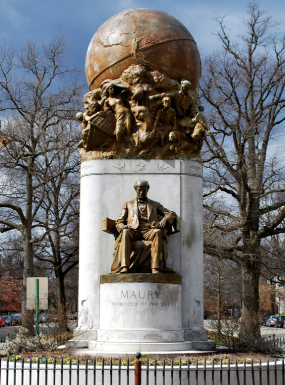 Maury Monument (source: Phil Riggan, Richmond on the James)