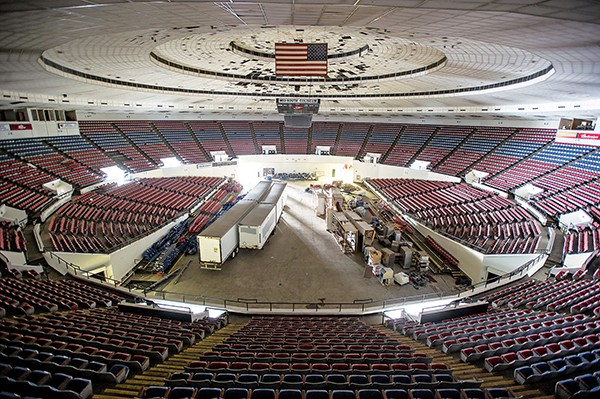 Inside the Mid-South Coliseum