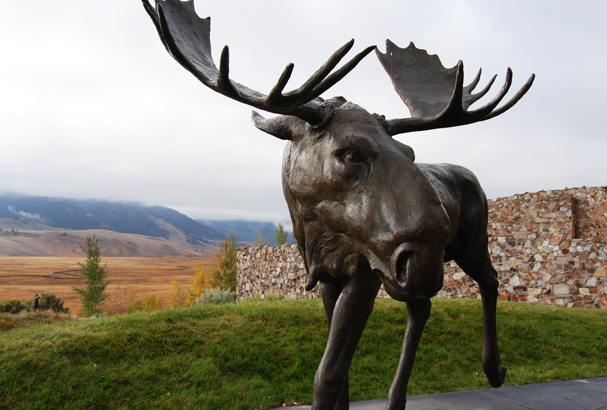 Sandy Scott's Sculpture Trial piece: Moose Flats