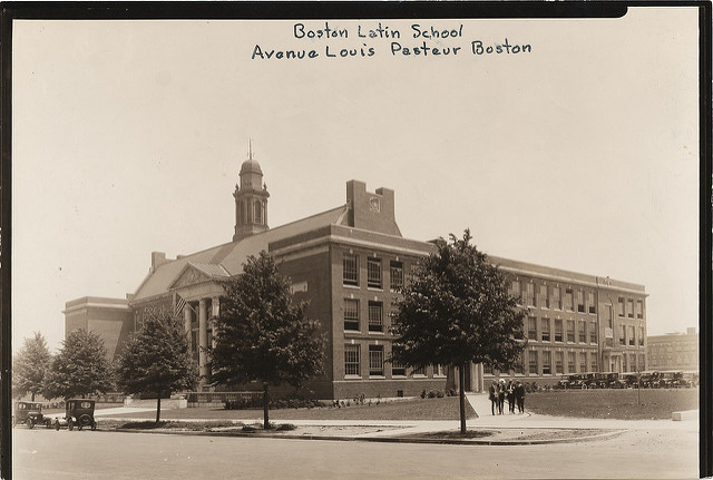 Boston Latin school at its current site in the early twentieth century.
